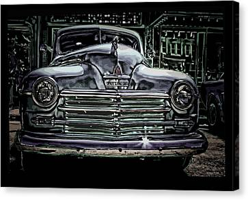 Vintage Plymouth Art Denim Dream Canvas Print