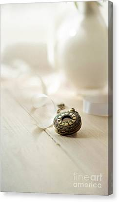 Vintage Pocket Watch And The Ribbon Canvas Print