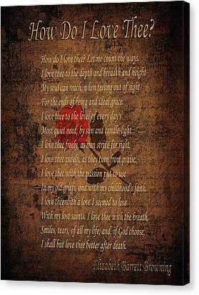 Vintage Poem 4 Canvas Print by Andrew Fare