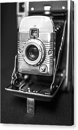 Vintage Polaroid Land Camera Model 80a Canvas Print by Jon Woodhams