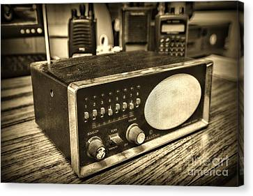 Vintage Police Scanner Retro Style Canvas Print