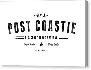 Vintage Post Coastie Canvas Print by Tom DiFrancesca