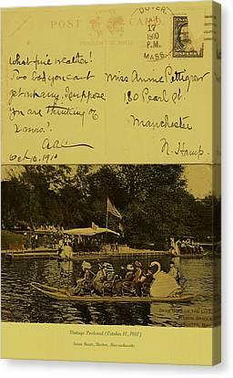 Vintage Postcard  October 10 1910 Canvas Print