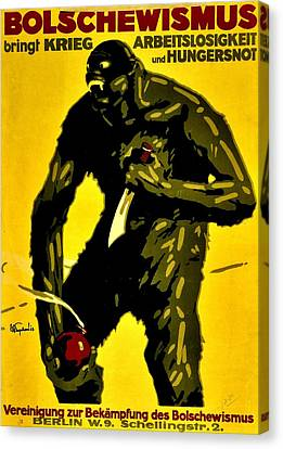 Vintage Poster - Germany - Down With Bolshevism Canvas Print