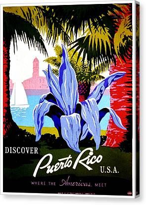 Vintage Poster - Puerto Rico Canvas Print by Benjamin Yeager