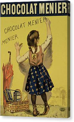 Vintage Poster Advertising Chocolate Canvas Print