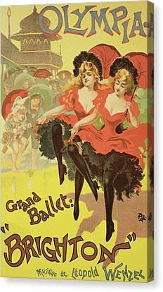 Vintage Poster   Brighton Canvas Print by Pal