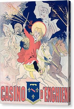 Vintage Poster  Casino Denghien Canvas Print by Jules Cheret