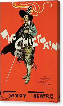 Sullivan Canvas Print - Vintage Poster For The Chieftain At The Savoy by Dudley Hardy