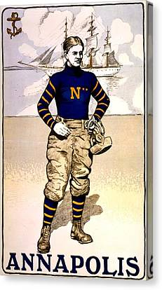 Vintage Poster - Naval Academy Midshipman Canvas Print by Benjamin Yeager