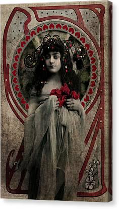 Vintage Princess Red Canvas Print by Lesa Fine