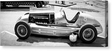 Canvas Print featuring the photograph Vintage Racing Car by Gianfranco Weiss