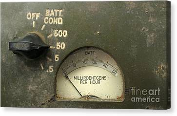 Vintage Radiation Meter Canvas Print