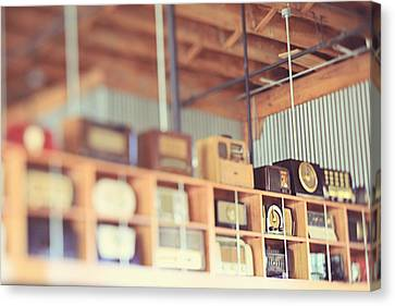 Canvas Print featuring the photograph Vintage Radio Collection by Heather Green