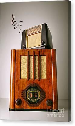 Vintage Radios Canvas Print by Carlos Caetano
