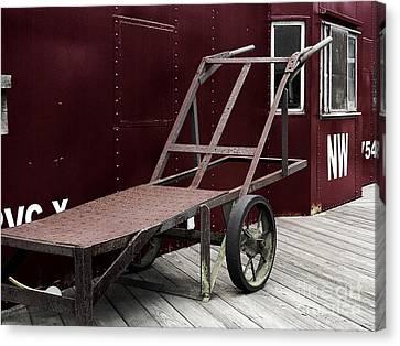 Vintage Railroad Baggage Cart Canvas Print