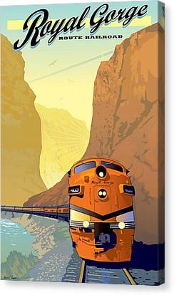 Vintage Railroad Poster Canvas Print by Allen Beilschmidt