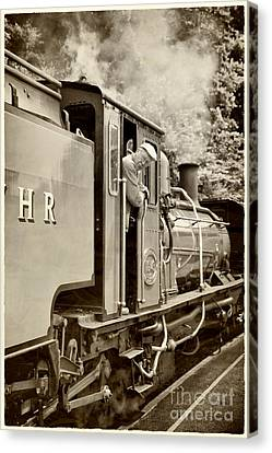 Vintage Railway Canvas Print by Jane Rix