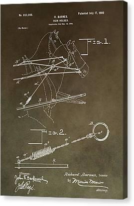 Vintage Rein Holder Patent Canvas Print