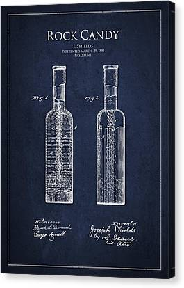 Vintage Rock Candy  Patent Drawing From 1881 Canvas Print by Aged Pixel