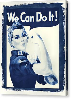 Vintage Rosie The Riveter Canvas Print by Dan Sproul