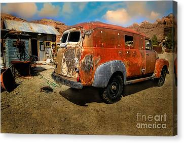 Vintage Rusty Chevy Panel Truck Canvas Print