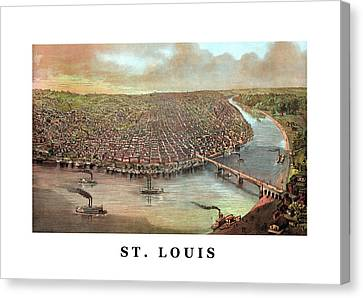 Vintage Saint Louis Missouri Canvas Print by War Is Hell Store