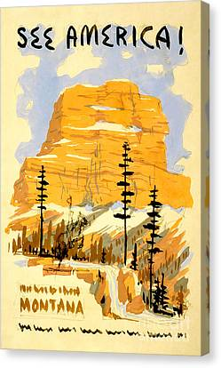Travel Canvas Print - Vintage See America Travel Poster by Jon Neidert