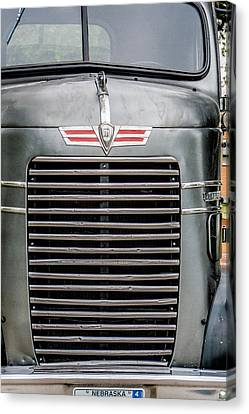 Canvas Print featuring the photograph Vintage Semi-truck by Dawn Romine