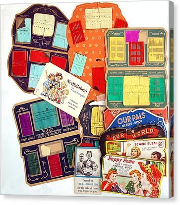 Vintage Sewing Needles Canvas Print