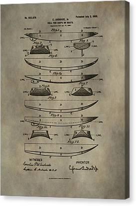 Vintage Ship Hull Patent Canvas Print