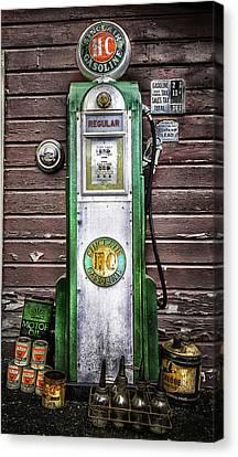 Vintage Sinclair Gas Pump Canvas Print by Thomas Schoeller