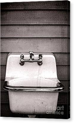 Vintage Sink Canvas Print by Olivier Le Queinec