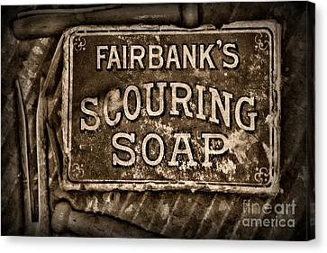 Vintage Soap In Sepia Canvas Print by Paul Ward