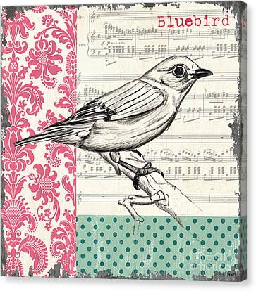 Vintage Songbird 1 Canvas Print by Debbie DeWitt