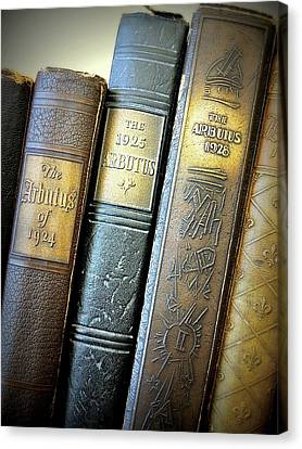 Canvas Print featuring the photograph Vintage Spines by Scott Kingery