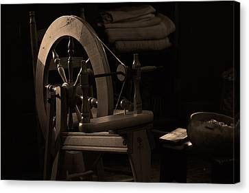 Vintage Spinning Wheel Canvas Print by Eugene Campbell