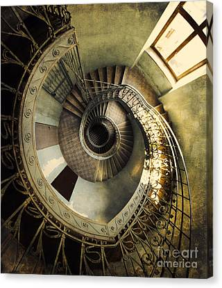 Vintage Spiral Staircase Canvas Print