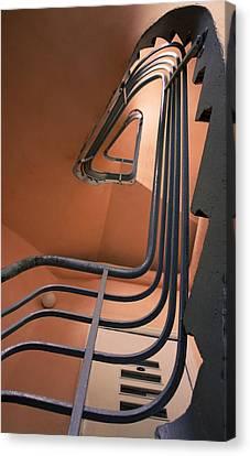 Vintage Spiral Stairs Canvas Print
