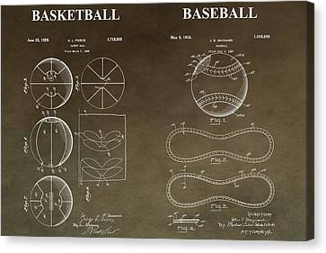 Vintage Sports Patent Canvas Print by Dan Sproul