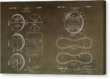 Vintage Sports Patent Drawing Canvas Print by Dan Sproul