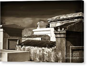Vintage St. Louis Cemetery Canvas Print by John Rizzuto