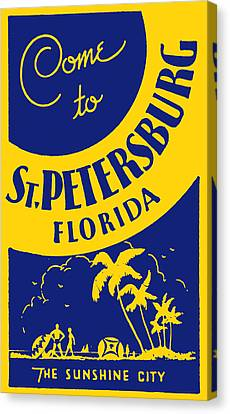 Vintage St. Petersburg Florida Poster Canvas Print