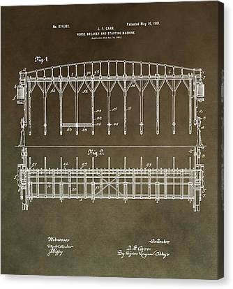 Vintage Starting Gate Patent Canvas Print by Dan Sproul