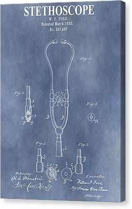 Vintage Stethoscope Patent Canvas Print by Dan Sproul