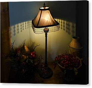 Vintage Still Life And Lamp Canvas Print by Greg Reed