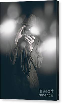 Limelight Canvas Print - Vintage Style Photo Journalist Shooting A Premiere by Jorgo Photography - Wall Art Gallery