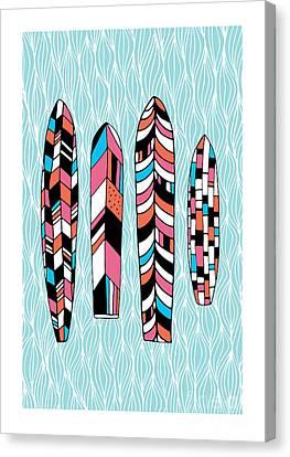 Vintage Surfboards Part2 Canvas Print by Susan Claire
