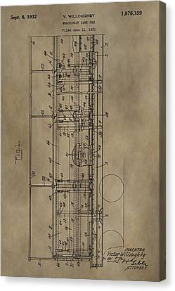 Vintage Tank Car Patent Canvas Print by Dan Sproul