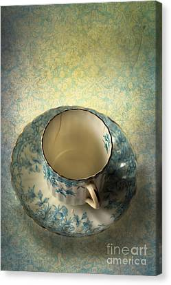 Vintage Tea Cup Canvas Print by Jan Bickerton